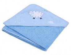 Osuška s kapucí modrá Fluffy