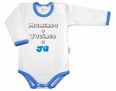 Body modré Maminka+Tatínek dl.rukáv
