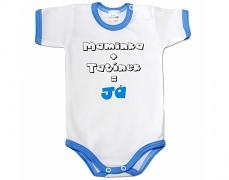 Body modré Maminka+Tatínek kr.rukáv