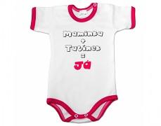 Body růžové Maminka+Tatínek kr.rukáv