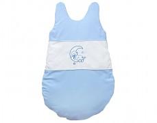 Dětský spací pytel modrý medvídek na měsíci