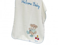 Deka modrá Welcome Baby