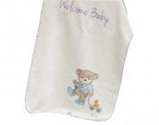 Deka fialová Welcome Baby