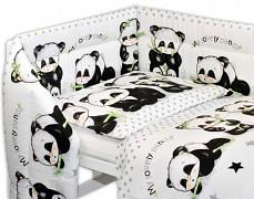 Souprava do postýlky 3dílná černo-bílá panda