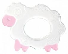 Silikonové kousátko růžová ovečka