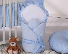 Zavinovačka modrá kostička s mašlí