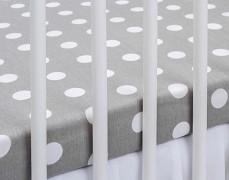 Bavlněné prostěradlo šedý puntík