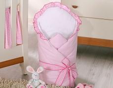 Zavinovačka růžová kostička s mašlí