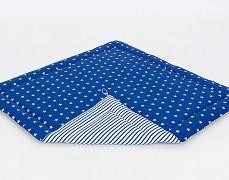 Podložka modrá tmavá hvězdičky (do stanu)