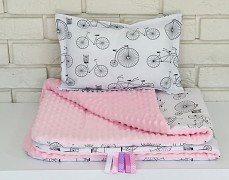 Set růžové bicykly