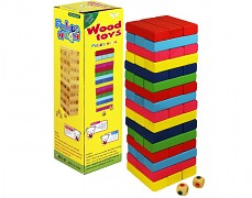 Věž Jenga barevná