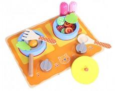 Dětská dřevěná minikuchyňka