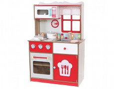 Dětská dřevěná kuchyňka s vybavením