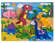 Vkládačka dřevěná - dinosauři