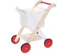 Dětský dřevěný nákupní vozík