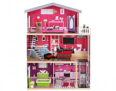 Dřevěný domek pro panenky s výtahem