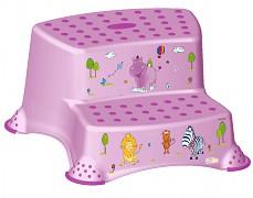 Schůdky fialové Hippo