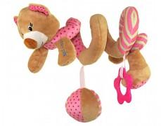 Plyšová spirála růžový medvídek
