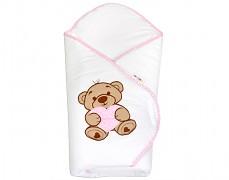 Zavinovačka růžová medvídek se srdíčkem