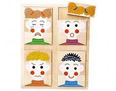 Dřevěné puzzle emoce