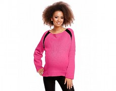 Těhotenský růžový tmavý rozepínací svetřík