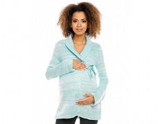 Těhotenský mint svetr zavinovací