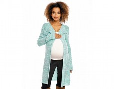 Těhotenský mint melír kardigan