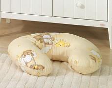 Kojící polštář béžový se spícími medvídky