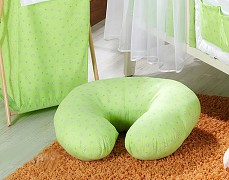 Kojící polštář zelená květinka