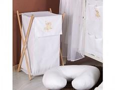 Koš na prádlo bílá obláček