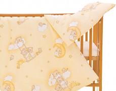 Dětské povlečení béžové se spícími medvídky