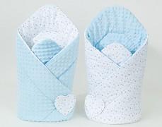 Zavinovačka bílé mini hvězdičky s modrou, oboustranná