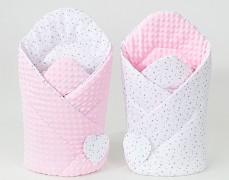 Zavinovačka bílé mini hvězdičky s růžovou, oboustranná
