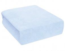 Froté modré prostěradlo