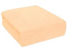 Froté oranžové prostěradlo