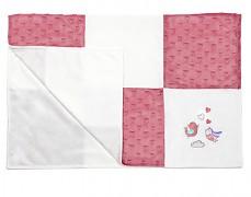 Dečka růžová patchwork