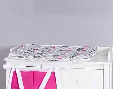 Přebalovací podložka růžový ZigZag slon