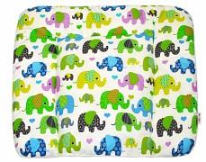 Přebalovací podložka zelená sloni