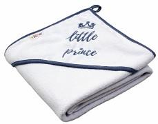 Osuška s kapucí bílá Little prince 80x80