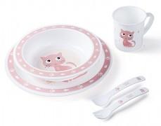 Dětská sada nádobí růžová Cute Animals