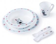 Dětská sada nádobí modrá Cute Animals