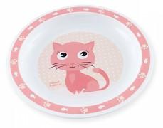 Plastový talířek růžový Cute Animals