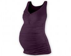 Těhotenské tm.fialové tílko