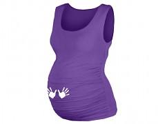 Těhotenské fialové tílko s ručičkami
