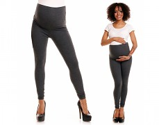 Těhotenské tm.šedé legíny
