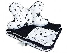 Set černobílé hvězdy, stabilizační polštářek