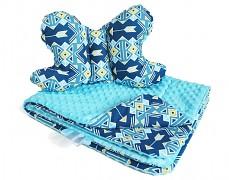 Set modrý bohostyle, stabilizační polštářek