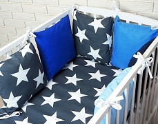 Souprava do postýlky 3dílná modrá Bigstars s modrou