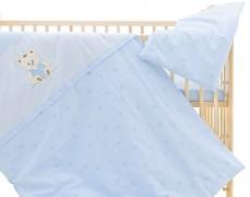 Dětské povlečení modré s obláčky