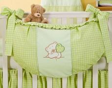 Vak na hračky zelený medvídek Love